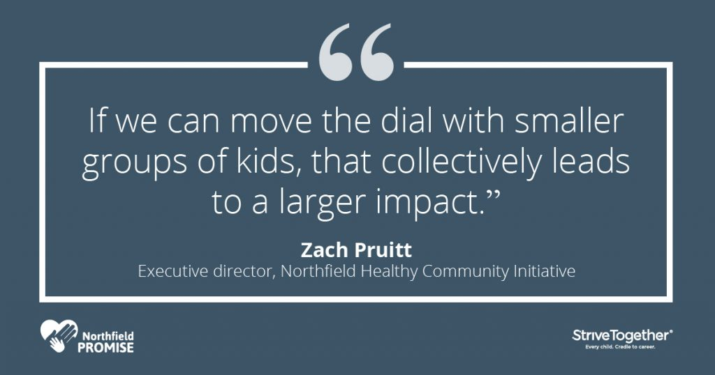"""If we can move the dial with smaller groups of kids, that collectively leads to a larger impact."" - Zach Pruitt, executive director, Northfield Healthy Community Initiative"
